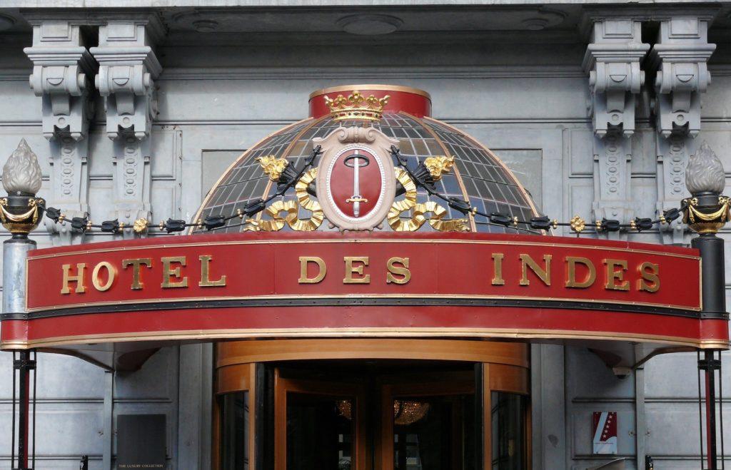 インドネシアのホテルの入り口
