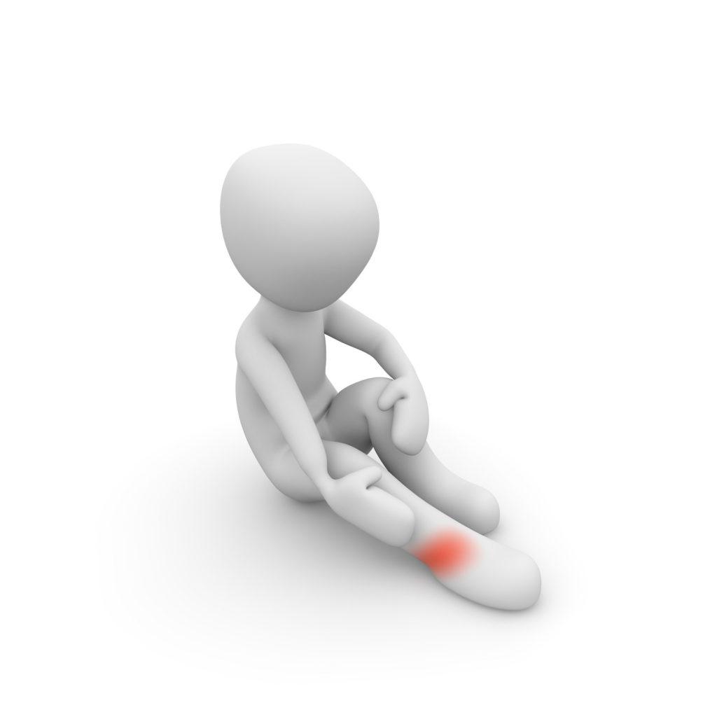 足首を痛めるイラスト